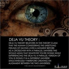 4 Reasons You Experience Deja-Vu - 4 Different Paths of Life. Wow Facts, Wtf Fun Facts, Deja Vu Theories, Conspericy Theories, Space Theories, Theories About The Universe, Cool Science Facts, Interesting Science Facts, Science Fair