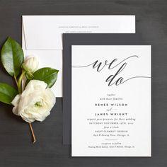 We Do Wedding Invitations by Emily Buford   Elli