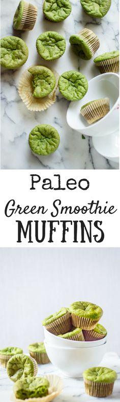 Paleo Green Smoothie Muffins