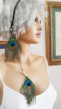 Peacock Feather Headband Womens Peacock Headband by ArtofAccessory
