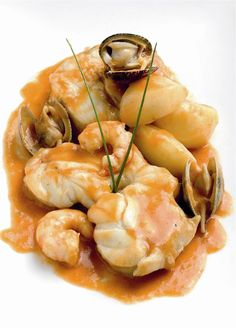 Cocina – Recetas y Consejos Fish Dishes, Seafood Dishes, Seafood Recipes, Spanish Dishes, Spanish Cuisine, Kitchen Recipes, Cooking Recipes, Healthy Recipes, Monkfish Recipes