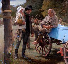 "John Buxton painting - Grandfathers 32"" x 34"" oil"