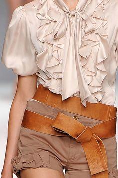 fashion clothes, ruffl, white style, safari chic, blous