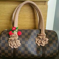 d488c06b3151 Handle Covers 4 Louis Vuitton Neverful Papillon 30 Handmade handbag handle  covers for Neverfull GM or · Neverfull GmLouis Vuitton NeverfullCrochet ...