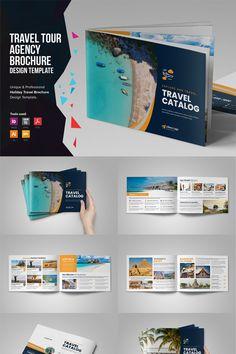 Holiday Travel Brochure Catalog Corporate Identity Template Holiday Travel Brochure Catalog C Travel Brochure Design, Travel Brochure Template, Travel Design, Travel Tours, Travel Advice, Travel Ads, Broucher Design, Design Layouts, Company Profile Design