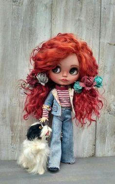 Barbara zakázková Blythe panenka sběratelská panenka Ooak zázvor Reborn Dolls, Ooak Dolls, Blythe Dolls, Girl Dolls, Ugly Dolls, Pretty Dolls, Beautiful Dolls, Lovely Creatures, Valley Of The Dolls