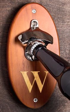 Monogram bottle opener