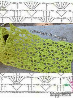 Libreria media ‹ I gomitoli di Camilla — WordPress - Best Pins Live Crochet Diagram, Crochet Chart, Crochet Motif, Crochet Lace, Crochet Stitches Patterns, Stitch Patterns, Knitting Patterns, Baby Afghan Crochet, Crochet Videos