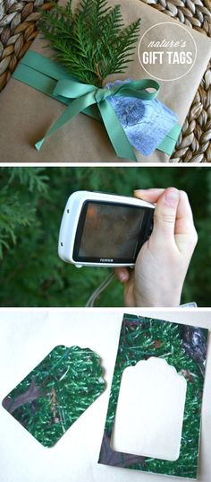 {Nature's Gift Tags} Have kids take photos of patterns in nature + make into tag *So simple and stunning!