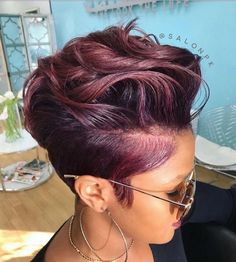 Easy Hairstyles For Medium Hair, Black Women Hairstyles, Hairstyle Short, Hair Medium, Hair Updo, Undercut Hairstyles, Weave Hairstyles, Office Hairstyles, Anime Hairstyles