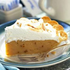 Creamy peanut butter filling with a swirl of meringue on top makes this dessert pie irresistible.