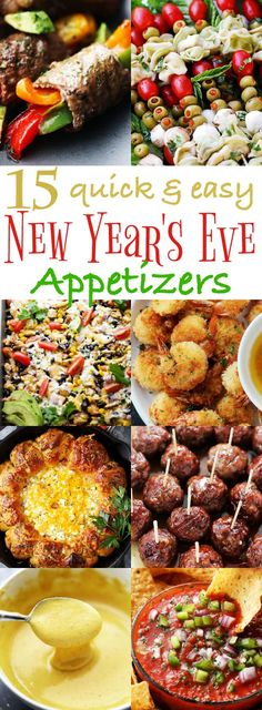 15 Quick and Easy New Year's Eve Appetizers Recipes - Delicious Party Snacks! 15 Quick and Easy New Year's Eve Appetizers - Ring in the New Year with some of our best party-worthy quick and easy appetizers! New Year's Eve Appetizers, Quick And Easy Appetizers, Finger Food Appetizers, Easy Snacks, Finger Foods, Appetizer Recipes, Christmas Party Appetizers, Cold Party Appetizers, Party Entrees