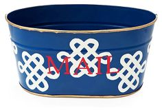 I so need something like this - only probably bigger to hold all the junk mail I take forever to go through: Mail Tub, Love Knot Navy on OneKingsLane.com