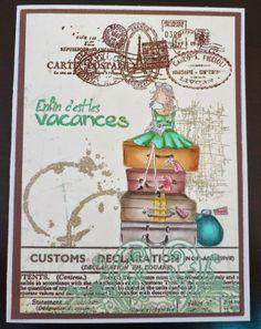 220414 by Magouille - Cards and Paper Crafts at Splitcoaststampers Stamping Bella Uptown Girls - Molly makes a Detour Scrapbooking, Digital Stamps, Copic, Wedding Cards, Card Making, Paper Crafts, Clip Art, Stamping, How To Make