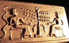 """The Göbekli Tepe """"seal"""" (temple 12.000 years old) The Sumerian story of Creation. The Serpent, the Tree of life and their """"Adam & Eve"""""""