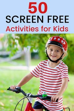 Looking for some screen free fun for kids? Here's 50 amazing ideas to get your child off the couch and engaged in play! There's tons of fun to be had with this list of 50 Screen free activities… More Free Activities For Kids, Toddler Learning Activities, Indoor Activities, Best Toddler Toys, Toddler Crafts, Amazing Ideas, Fun Ideas, Rainy Day Fun, Free Fun