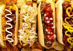 The 41 Most Important Hot Dog Styles in America : Best Regional Hot Dog Styles in America - Thrillist Gourmet Hot Dogs, Grilling Recipes, Cooking Recipes, Sausage Recipes, American Hot Dogs, Best Food Trucks, Burger Dogs, Chili Dogs, Hot Dog Recipes
