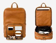A Perfect Leather WiFi-Enabled Backpack