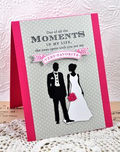 Bride & Groom Card by Dawn McVey for Papertrey Ink (December 2012)