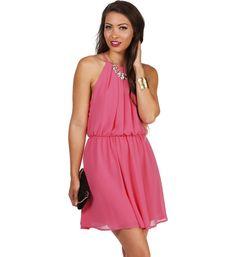 Pink Soft Pleats Dress