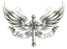 """Cross w/ Wings John 3:16 Temporary Body Art Tattoos 2.5"""" x 3.5"""" TMI http://www.amazon.com/dp/B00AANCB0E/ref=cm_sw_r_pi_dp_ddb8tb0CH5Q3J #tattoos #bodyart #inked"""