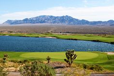 A look at the 18th Green and 10th Fairway at the Snow Mountain Course at the Las Vegas Paiute Golf Resort.