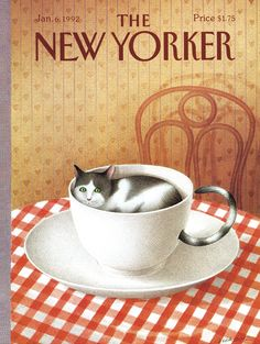 "Own a puzzle of this iconic ""New Yorker"" cover today! ""Cattuccino"" touched the hearts of many readers nationwide with its publication in 1992, capturing a moment of Americana forever. This 1,000-piece jigsaw puzzle from the New York Puzzle Company has a finished size of 19.25 inches by 26.625 inches.New York Puzzle Company jigsaw puzzles range from 24 to 2000 pieces and are all made 100% in the USA out of recycled cardboard and printed with soy inks. The company's durable..."