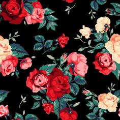 Vintage roses vector seamless pattern 02