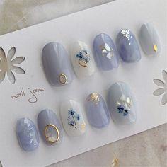 Pin by Nagel Kunst on Japanische Nagelkunst in 2020 Korean Nail Art, Korean Nails, Japanese Nail Design, Japanese Nail Art, Cute Nails, Pretty Nails, Disney Acrylic Nails, Japan Nail, Minimalist Nails