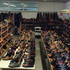 http://chicerman.com  carminashoemaker:  Carmina Shoemaker showroom fullfil of shoes. #Goodyearwelted #Mallorca #mensshoes #mensfashion #Spain #style  #menshoes