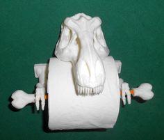 T-Rex Toilet Paper Holder 3D Printed Bathroom by MirskyArtGallery