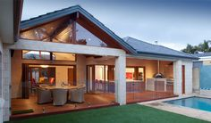 Alfresco and Outdoor Living Areas Specialist Home Renovation & Extension Builder Perth WA Addstyle Master Builders Outdoor Settings, House Design, Building A House, Patio Design, Outdoor Living Rooms, Pool Houses, Outdoor Living, House Exterior, Alfresco Designs