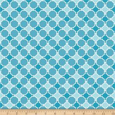 Riley Blake Splendor Geometric Blue from @fabricdotcom  Designed by Lila Tueller Designs for Riley Blake, this cotton print is perfect for quilting, apparel and home decor accents.  Colors include white and shades of blue.