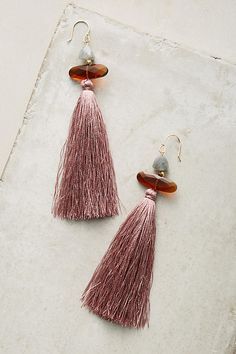 Anthropologie  1: Clouded Tassel Drop Earrings