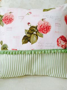 French Country Pillow Cover Shabby Chic by ParisLaundryDesigns, $59.00