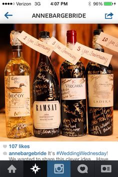 Wine…have your guests sign the bottle instead of a guest book!