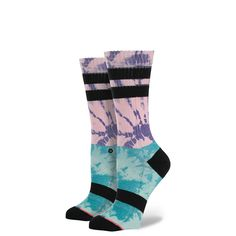 We'll take care of the twist if you handle the shout with Stance's Twister Block. It's easy to get loud in a sock style that's so boldly original, a twisted and tie-dyed take on a classic Athletic look in our favorite Tomboy style. Each pair cradles feet in buttery soft combed cotton comfort, while our signature springy arch support adds a little lift to your every step. $14