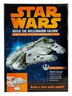 Becker and Mayer Millenium Falcon Paper Model Kit Hobby Kits, Hobby Supplies, Star Wars Music, Millennium Falcon Model, Audio Track, The Empire Strikes Back, Luz Led, Paper Models, For Stars