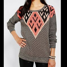 608921d56512b Ecote Intarsia Pullover Sweater from Urban Outfitters. My Black Friday buy.