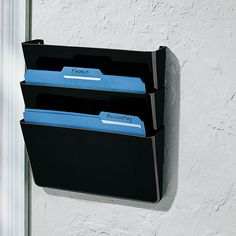 Office Depot® Brand Single Wall Pockets, Letter Size, Black, Pack Of 3, $18.99