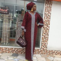 Long African Dresses, Latest African Fashion Dresses, African Print Fashion, African Attire, African Wear, Simple Dresses, Fashion Outfits, Clothes, Instagram