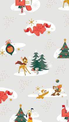Christmas Phone Wallpaper, Holiday Wallpaper, Halloween Wallpaper Iphone, Disney Wallpaper, Iphone Wallpaper, Christmas Icons, Disney Christmas, Christmas Art, Disney Background