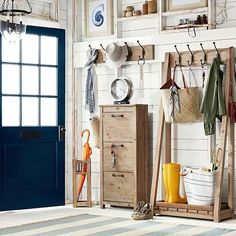 Entryway goals, courtesy of our gorgeous new Parker Collection! Wardrobe Doors, Closet Doors, Entryway Organization, Organized Entryway, Entryway Storage, Entryway Ideas, Storage Room, Shoe Storage, Clean Bedroom