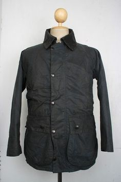 Superb BARBOUR Border WAX Jacket Navy Small