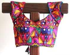 mirror-work multicolour cotton ethnic blouses