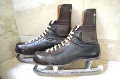 Vintage Hockey Skates  Antique Hockey Equipment