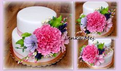 S cukrovými květy( Pivoňka, Krásněnka, Levandule, Frézie)