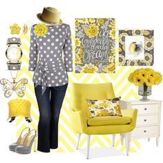 """""""In a Gray and Yellow Mood"""" by bschultea on Polyvore"""