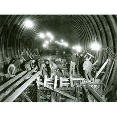 PortAuthorityArchive.com Lincoln Tunnel construction 1936 Print