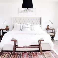 Rise and shine! What better way to start the day than dreaming about bedrooms you wish were yours?? ✨ Love @michelle_janeen's use of earthy neutrals and layered textures to create a super serene look - tap the link in our profile to shop! ✨#myoklstyle #regram #sarah_k_h